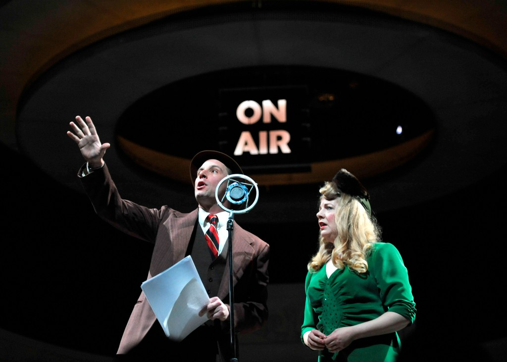 Todd Lawson and Katja Hill in PlayMakers Repertory Company production of It's A Wonderful Life: A Live Radio PlayPhoto: Jon Gardiner