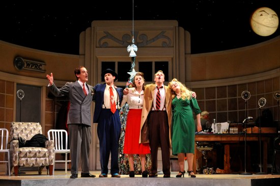 The Ensemble in PlayMakers Repertory Company production of It's A Wonderful Life: A Live Radio Play. Photo: Jon Gardiner