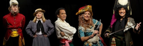 The lead characters in Durham Savoyards' 50th anniversary production of THE PIRATES OF PENZANCE. Photo: Joe Cohn.