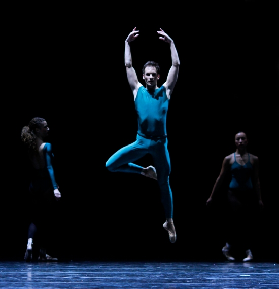 The Joffrey Ballet dancing In the Middle, Somewhat Elevated. Photo: Herbert Migdoll.