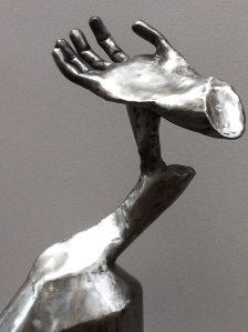 One of Leverty's metal sculptures