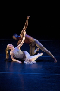 Wendy Whelan and Lloyd Knight in Martha Graham's MOON, 4/26/13. KPO Photo.