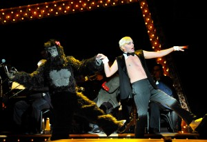 Taylor Mac, right, in PRC's Cabaret. Josh Tobin as the Gorilla. Photo: Jon Gardiner.