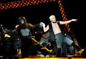 Taylor Mac, right, in PRC's Cabaret. Josh Tobin as the Gorilla. Photo: Jon Gardiner.