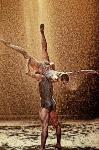 Dancing in the rain in SPEAK FOR YOURSELF. Photo: Rahi Rezvani.