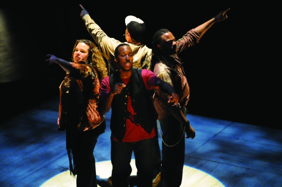 The troupe Universes, at PRC2 through April 28, with the commissioned work SPRING TRAINING. Photo courtesy PRC.