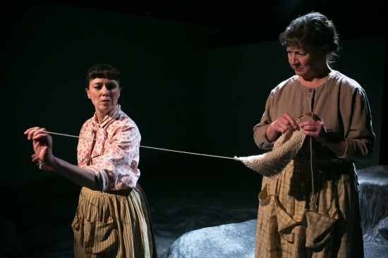 Julie Oliver, left, and Marcia Edmundson in Deep Dish's THE CRIPPLE OF INISHMAAN. Photo: Jonathan Young.