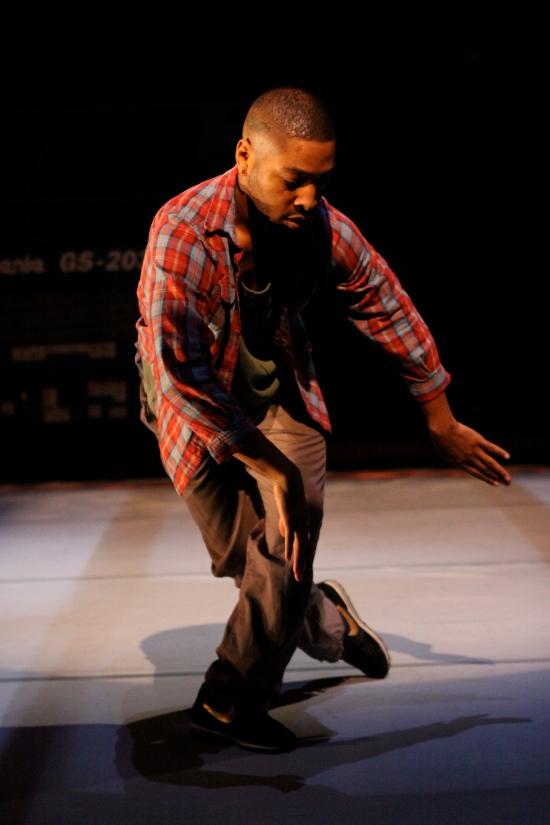 Kyle Abraham in Pavement. Photo: Steven Schreiber.