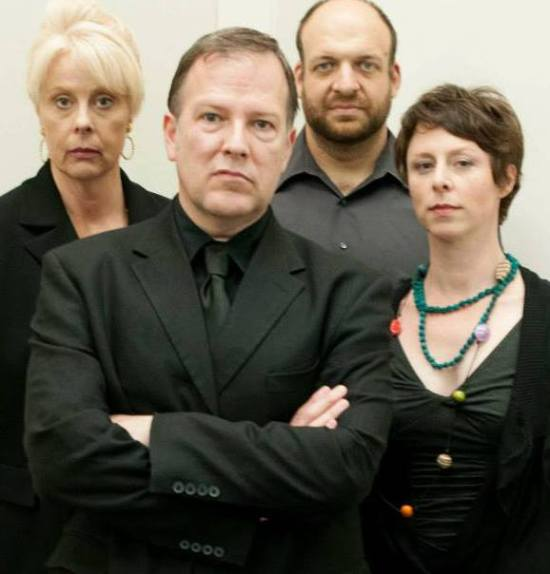 L to R, Fishell, Ivey, Tourek and Marks, the cast of GOD OF CARNAGE. Photo courtesy HSNK/TR.