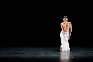 Chou Chang-ning of Cloud Gate Dance Theatre performed a solo from Lin Hwai-min's Moon Water. Photo: Grant Halverson.