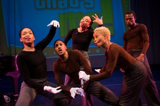 Camille A. Brown (front right) & Dancers in Mr. TOL E. RAncE. Photo: Christoper Duggan.