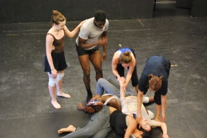 ADF student dancers rehearsing Souke's final sequence, July 2012.