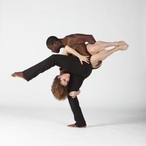 Interlocking balance: Gaspard Louis with Kate Currin. Photo courtesy Gaspard Louis.