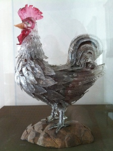 Glass rooster, anonymous, 18th/19th c., in the Museo del Vetro, Murano.