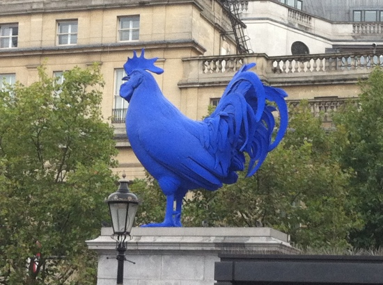 """Hahn/Cock"" by German artist Katharina Fritsch currently lords it over the public in London, on Trafalgar Square's Fourth Plinth."