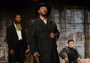 L to R: Alphonse Nicholson, Phillip B. Smith, Victor Rivera. All excel in THE WHIPPING MAN, but the show belongs to Smith. Photo: Adam Dodds.