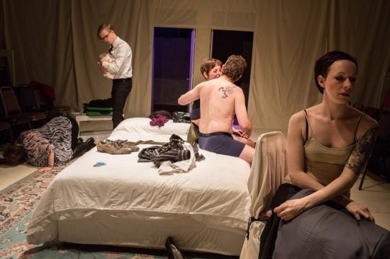 Overlaid scenes in LGP's CELEBRATION. Photo: Alex Maness.