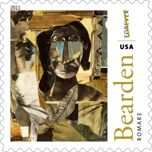 Romare Bearden was one of August Wilson's influences. Here is Bearden's 1964 Conjur Woman as reproduced on a USPS stamp.