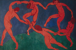 Henri Matisse, Dance, 1910. In the collection of The Hermitage Museum.