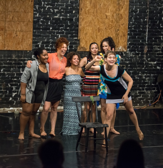 The cast of UNDONE: Monet Noelle Marshall, Leah Wilks, Zoia Cisneros, Lindsay Leonard, Jessi Knight Walker and NIcola Bullock. Photo: © Tim Walter.