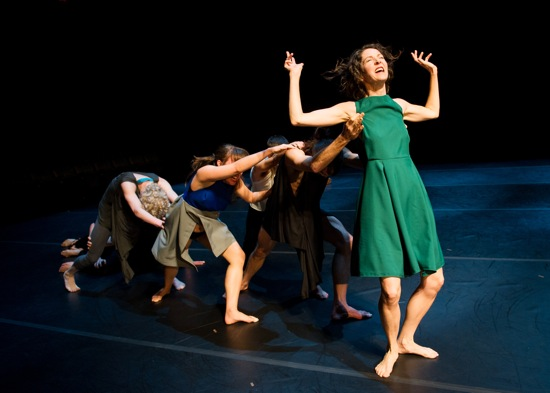 Tere O'Connor Dance in an arresting moment near the end, but not the end, of BLEED. Photo: ©Ian Douglas.