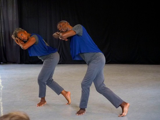 From Sister. Tere O'Connor Dance in the venerable Ark on Duke's East Campus, July 13, 2014. Photo: Grant Halverson, ©ADF.