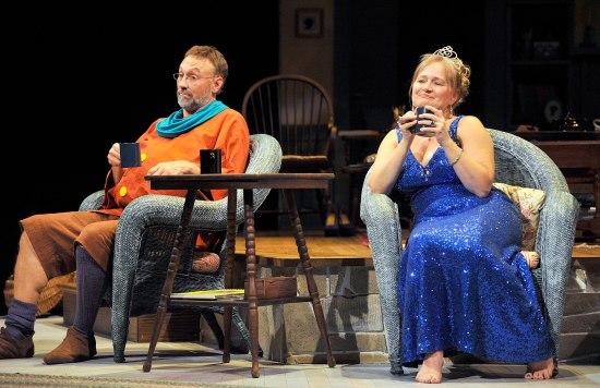JEFFREY BLAIR CORNELL as Vanya and JULIA GIBSON as Sonia. Photo: Jon Gardiner.