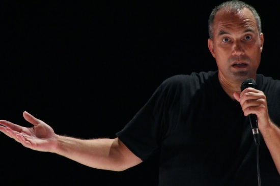 Roger Guenveur Smith in his one-man show RODNEY KING, at PRC2 through Sept. 7. Photo: Patti McGuire.