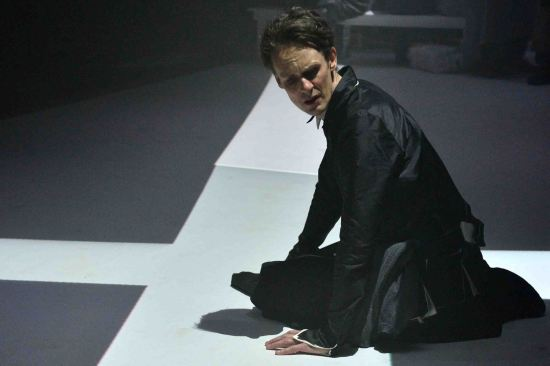 Ian Bostridge, tenor, as The Madwoman in Curlew River. Photo: Mark Allan.