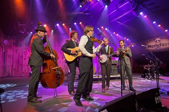 The Steep Canyon Rangers at a previous MerleFest. Photo: Greg Lawler.