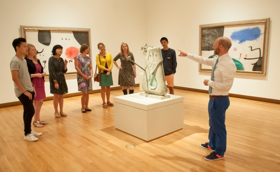 A tour of the Miro exhibition in the Nasher galleries. Photo: J. Caldwell.