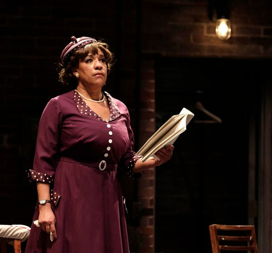 "KATHRYN HUNTER-WILLIAMS as Wiletta Mayer in PlayMakers Repertory Company's production of ""Trouble in Mind"" by Alice Childress. January 21 – February 8, 2015. Directed by Jade King Carroll. Photo by Jon Gardiner."