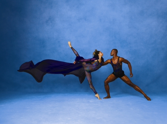 Alvin Ailey American Dance Theater's  Alicia Graf Mack and Jamar Roberts. Photo:Andrew Eccles.