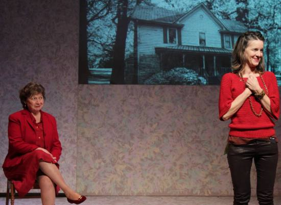 Marcia Edmundson, Two Moons, and Jane Allen Wilson in Life Without Water. Photo courtesy the ArtsCenter.