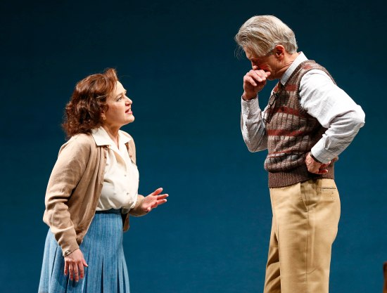 Julia Gibson and Michael Bryan French as Catherine and Dr. Stockmann. Photo: Jon Gardiner.