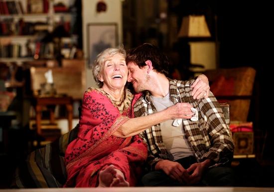 Dee Maaske as Vera and Schuyler Scott Mastain as Leo. Photo: Jon Gardiner for PRC.
