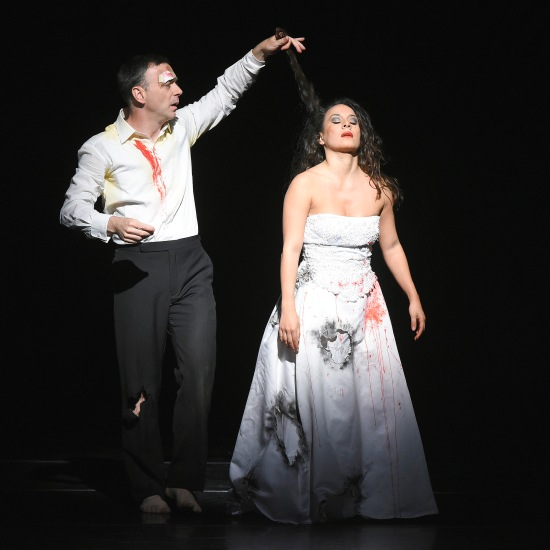 Larry Keigwin and Rosie Herrera in the premiere of Something Wonderful at ADF 6/29/15. Photo: Grant Halverson.