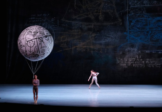 Shen Wei's Map, with one of the balloons, in performance at ADF, June 11, 2015. Photo: Grant Halverson.