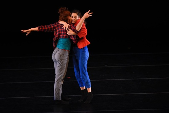 Leah Wilks, left and Anna Barker in Barker's IT'S NOT ME IT'S YOU, at ADF 6/25/15. Photo: Grant Halverson.