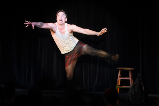 Gregory Dolbashian in Awkward Magic: Scene 1: Nailed It. At ADF 6/27/15. Photo: Grant Halverson.