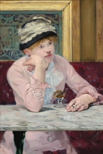 Manet's Woman with a Dish of Plums, in the National Gallery of Art, Washington, DC.