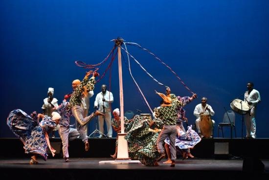 "The evening culminates with the eye-popping ""Clasical Tahona."" Ballet Folklórico Cutumba at ADF, 7/15/15. Photo: Grant Halverson."