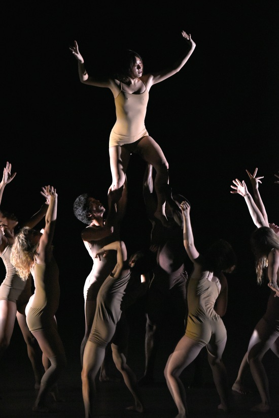 ADF student dancers performing Gregory Maqoma's DRY WELL at ADF 2015. Photo: Grant Halverson.